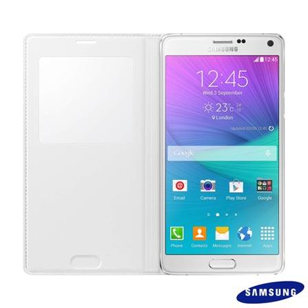 Capa para Galaxy Note 4 de Poliuretano Branca – Samsung - EF-CN910BWEGBR, Branco, Capas e Protetores, Poliuretano, 03 meses