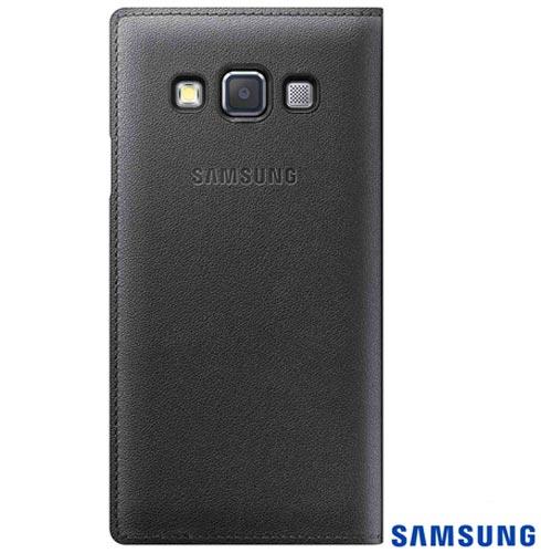 Capa Flip Cover para Galaxy A3 em Poliuretano Grafite - Samsung - EFFA300BCEG, Grafite, Capas e Protetores, Poliuretano, 03 meses
