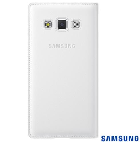 Capa Flip Cover para Galaxy A3 Branca - Samsung - EFFA300BWEG, Branco, Capas e Protetores, Poliuretano, 03 meses