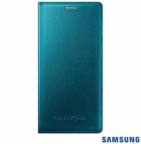 Capa Flip Cover para Galaxy S5 Mini Verde - Samsung - EF-FG800BGEGBR, Verde, Capas e Protetores, Poliuretano, 03 meses