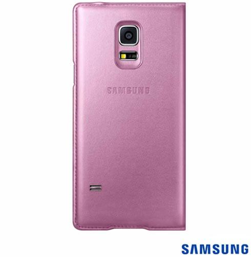 Capa Flip Cover para Galaxy S5 Mini Pink - Samsung - EF-FG800BPEGBR, Pink, Capas e Protetores, Poliuretano, 03 meses