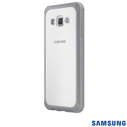 Capa Protetora Premium para Galaxy A3 Emborrachada Branca e Cinza Samsung - EFPA300BSEG, Branco, Capas e Protetores, Não especificado, 03 meses