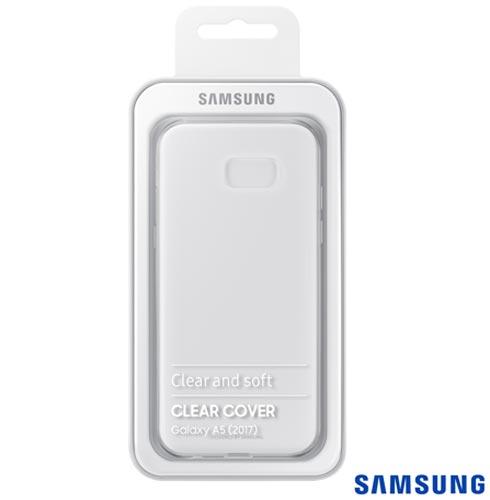 Capa para Galaxy A5 Clear Jelly Cover Transparente -Samsung - EF-QA520TTEGBR, Não se aplica, Capas e Protetores, TPU, 03 meses