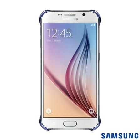 Capa Protetora Clear para Galaxy S6 Preta - Samsung - EFQG920BB, Preto, Capas e Protetores, Poliuretano, 03 meses