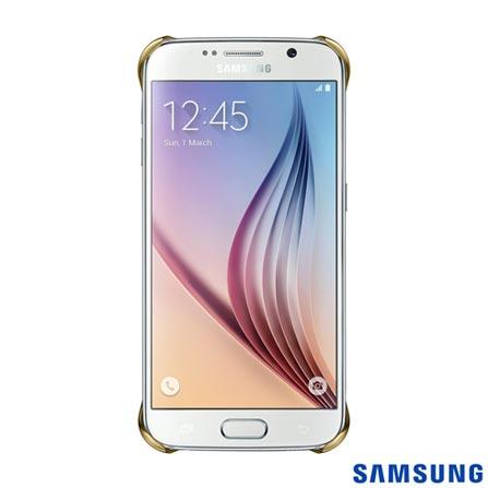 Capa Protetora Clear para Galaxy S6 Dourada - Samsung - EFQG920BF, Dourado, Capas e Protetores, Poliuretano, 03 meses