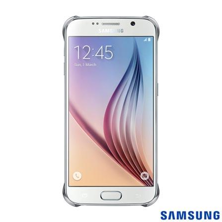Capa Protetora Clear para Galaxy S6 Prata - Samsung - EFQG920BS, Prata, Capas e Protetores, Poliuretano, 03 meses