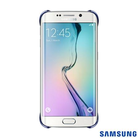 Capa Protetora Clear para Galaxy S6 Edge Preta - Samsung - EFQG925BB, Preto, Capas e Protetores, Poliuretano, 03 meses