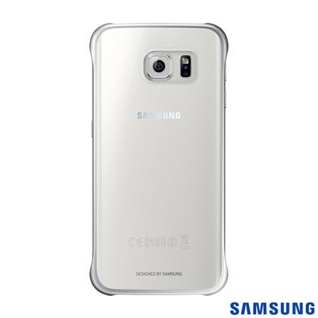 Capa Protetora Clear para Galaxy S6 Edge Prata - Samsung - EFQG925BS, Prata, Capas e Protetores, Poliuretano, 03 meses