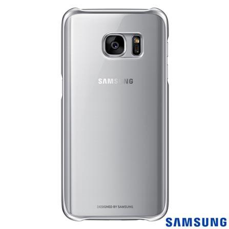 Capa para Galaxy S7 Samsung Clear com Borda Prata - EF-QG930CSEGBR, Prata, Capas e Protetores, Policarbonato, 03 meses