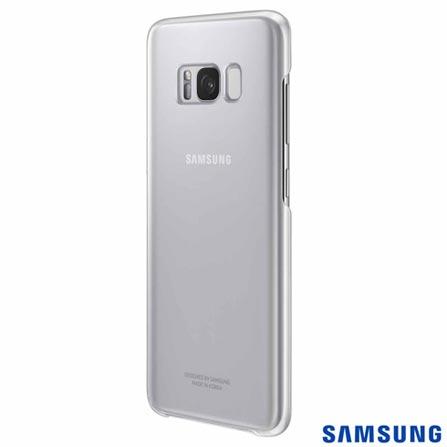 Capa para Galaxy S8 Clear Cover Prata - Samsung - Samsung - EF-QG950CS EGBR, Prata, Capas e Protetores, Policarbonato, 03 meses