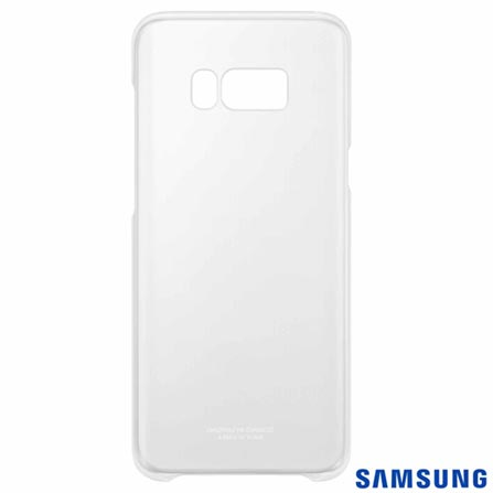 Capa para Galaxy S8 Plus Clear Cover Prata - Samsung - EF-QG955CB EGBR, Prata, Capas e Protetores, Policarbonato, 03 meses