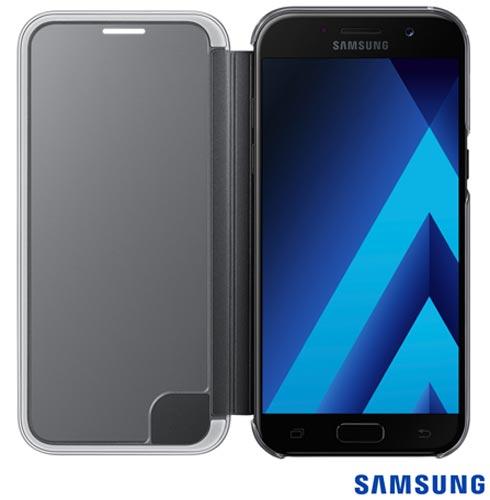 Capa para Galaxy A5 Clear View Cover Preta - Samsung - EF-ZA520CBEGBR, Preto, Capas e Protetores, Policarbonato, 03 meses