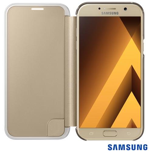 Capa para Galaxy A7 Clear View Cover Dourada - Samsung - EF-ZA720CFEGBR, Dourado, Capas e Protetores, Policarbonato, 03 meses