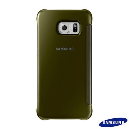 Capa Clear View para Galaxy S6 Edge Dourada - Samsung - EFZG925BF, Dourado, Capas e Protetores, Poliuretano, 03 meses