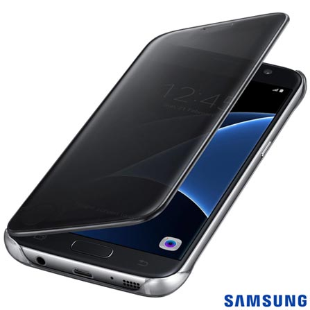 Capa para Galaxy S7 Samsung Clear View Preta - EF-ZG930CBEGBR, Preto, Capas e Protetores, Policarbonato, 03 meses