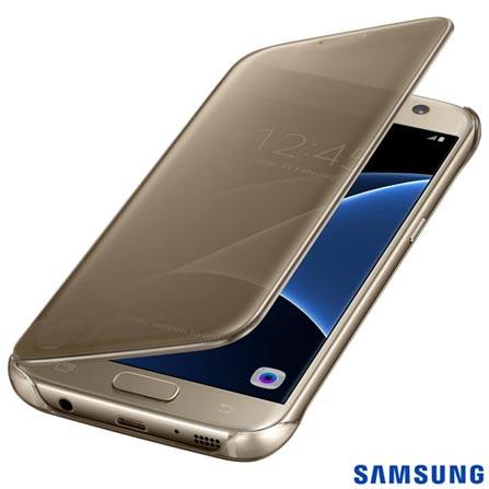 Capa para Galaxy S7 Samsung Clear View Dourada - EF-ZG930CFEGBR, Dourado, Capas e Protetores, Policarbonato, 03 meses