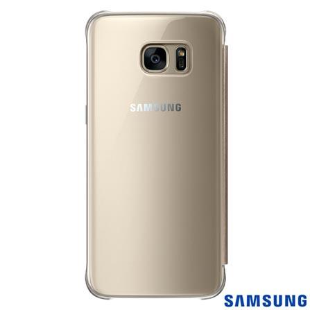 Capa para Galaxy S7 Edge Samsung Clear View Dourada - EF-ZG935CFEGBR, Dourado, Capas e Protetores, Policarbonato, 03 meses