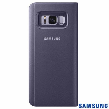 Capa para Galaxy S8 Clear View Standing Cover Ametista - Samsung  - EF-ZG950CV EGBR, Roxo, Capas e Protetores, Policarbonato, 03 meses
