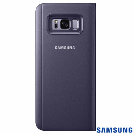 Capa para Galaxy S8 Clear View Standing Cover Ametista - Samsung - EF-ZG955CV EGBR, Roxo, Capas e Protetores, Policarbonato, 03 meses