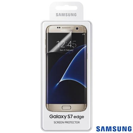 Película Protetora para Samsung Galaxy S7 Edge em Poliéster Transparente - Samsung - ET-FG935CT, Não se aplica, Películas, Poliéster, 03 meses