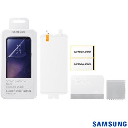 Película Protetora para Galaxy S8 Plus em Poliéster Transparente - Samsung - ET-FG950CTEGBR, Não se aplica, Películas, Poliéster, 03 meses