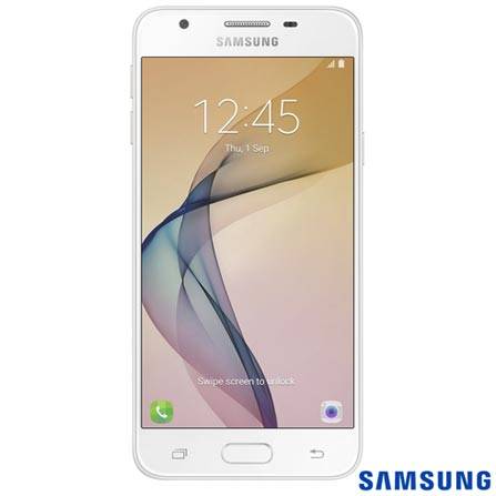 """Samsung Galaxy J5 Prime Dourado com Tela 5"""", 4G, 32 GB e Câmera de 13 MP - SM-G570MWDSZTO, Bivolt, Bivolt, Dourado, 0000005.00, True, 1, N, True, True, True, True, True, True, I, Galaxy J5 Prime, Android, Wi-Fi + 4G, 5'', Acima de 4'', Sim, Quad Core 1.4 GHz, 32 GB, 13.0 MP, 2, Não, Sim, Sim, Sim, Sim, 12 meses, Nano Chip"""