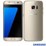 """Samsung Galaxy S7 Edge Dourado com Tela de 5,5"""", 4G, 32 GB e Câmera de 12 MP - SM-G935F"""