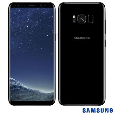 """Oferta ➤ Samsung Galaxy S8 Preto, com Tela de 5,8"""", 4G, 64 GB e Câmera de 12 MP – SM-G950   . Veja essa promoção"""
