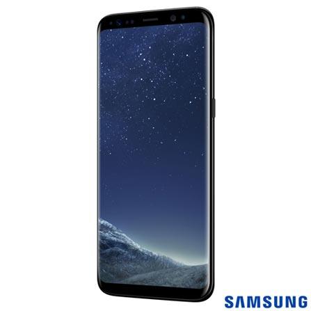 """Samsung Galaxy S8 Preto, com Tela de 5,8"""", 4G, 64 GB e Câmera de 12 MP - SM-G950, Bivolt, Bivolt, Preto, 0000005.80, True, 1, N, True, True, True, True, True, True, I, Galaxy S8, Android, Wi-Fi + 4G, 5.8'', Acima de 4'', Sim, Octa Core, 64 GB, 12 MP, 2, Não, Sim, Sim, Não, Sim, 12 meses, Nano Chip"""