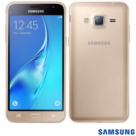 """Samsung Galaxy J3 Dourado, com Tela de 5"""", 4G, 8 GB e Câmera de 8 MP - J320, Dourado, 0000005.00, True, 1, N, True, True, True, True, True, True, I, Mini Chip"""