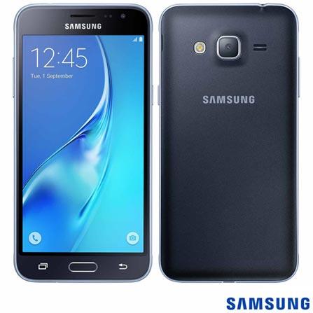 """Samsung Galaxy J3 Preto, com Tela de 5"""", 4G, 8 GB e Câmera de 8 MP - J320, Preto, 0000005.00, True, 1, N, True, True, True, True, True, True, I, Mini Chip"""