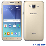 """Samsung Galaxy J7 Duos Dourado com 5,5"""", 4G, Android 5.1, Octa Core 1.5 GHz, 16 GB e Câmera de 13MP"""