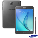 Tablet Samsung Galaxy Tab A Cinza com 8, 4G, Android 5.0, Processador Quad-Core 1.2 GHz e 16 GB
