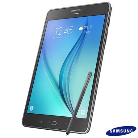 Tablet Samsung Galaxy Tab A Cinza com 8, 4G, Android 5.0, Processador Quad-Core 1.2 GHz e 16 GB, Cinza, 0000008.00, 16 GB, Wi-Fi + 4G, 5.0 MP, 1, N, 12 meses, 126310, Até 10'', 8 Polegadas, SAMSUNG, QUAD-CORE, 000016, Android, 0000008.00, I, Micro Chip