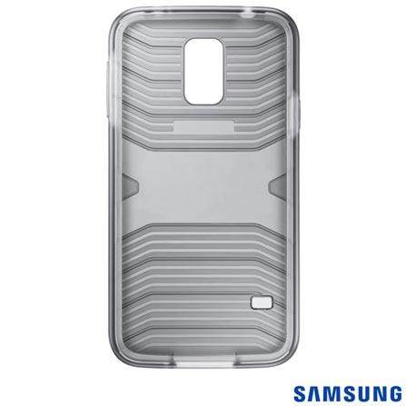 Capa Protetora Premium para Samsung Galaxy S5 Transparente Samsung - EF-PG900BSEGBR, Não se aplica, Capas e Protetores, Couro, 03 meses