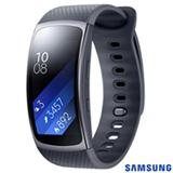"""Gear Fit 2 Samsung Preto com 1,5"""", Pulseira em Elastômero, Bluetooth e 4GB"""