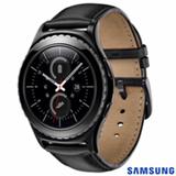 Gear S2 Classic Samsung Preto com 1,2'', Pulseira de Couro, Wi-Fi e 4 GB