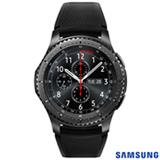 """Gear S3 Frontier Samsung Preto com 1,3"""", Pulseira de Silicone, Bluetooth e 4 GB"""