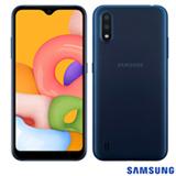 Samsung Galaxy A01 Azul, com Tela de 5,7', 4G, 32GB e Câmera Dupla de 13MP + 2MP - SM-A015MZBEZTO