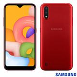Samsung Galaxy A01 Vermelho, com Tela de 5,7', 4G, 32GB e Câmera Dupla de 13MP + 2MP - SM-A015MZREZTO