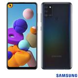 Samsung Galaxy A21s Preto, com Tela Infinita de 6,5', 4G, 64 GB e Câmera Quádrupla de 48MP+8MP+2MP+2MP - SM-A217MZKKZTO