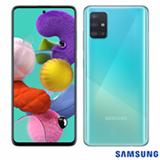 """Samsung Galaxy A51 Azul, com Tela Infinita de 6.5"""", 4G, 128GB e Câmera Quádrupla 48MP+12MP+5MP+5MP -SM-A515FZWBZTO"""