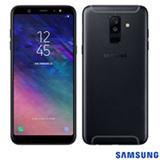 """Samsung Galaxy A6+ Preto, com Tela de 6"""", 4G, 64 GB e Câmera Dual 16MP + 5MP - SMA605"""