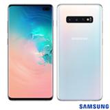 """Samsung Galaxy S10+ Branco, com Tela de 6,4"""", 4G, 128 GB e Câmera Tripla de 12MP + 12MP + 16MP - SM-G975FZWJZTO"""