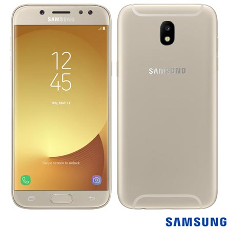 Samsung Galaxy J5 Pro Duos Dourado Com Tela 5,2, 4g, 32 Gb e Câmera de 13 Mp - Sm-j530gzdqzto - Sgsmj530drd Bivolt
