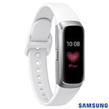 """Galaxy Fit Samsung Prata com 0,95"""", Pulseira de Silicone e Bluetooth 5.0"""