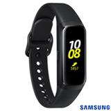 """Galaxy Fit Samsung Preto com 0,95"""", Pulseira de Silicone e Bluetooth 5.0"""