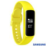 """Galaxy Fit e Samsung Amarelo com 0,74"""", Pulseira em TPU, Bluetooth 5.0 e 4 MB"""