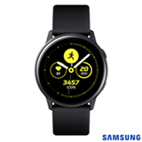 Galaxy Watch Active Samsung Preto com 39,5 mm, Pulseira de Silicone, Bluetooth, NFC e 4GB - SM-R500NZKAZTO