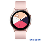 Galaxy Watch Active Samsung Rosé com 39,5 mm, Pulseira de Silicone, Bluetooth, NFC e 4GB - SM-R500NZDAZTO